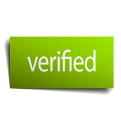 Verified square paper sign isolated on white vector