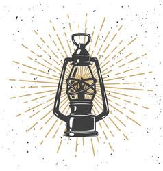 Vintage kerosene lamp vector