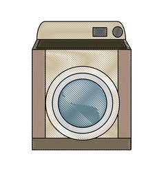 Washing machine appliance laundry clean icon vector