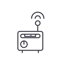 wi-fi router concept thin line icon sign vector image vector image
