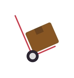 Package box cart delivery shipping icon vector