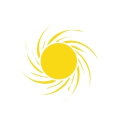 Sunny sun abstract sunshine icon graphic vector