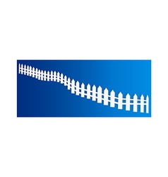 A view of fence vector image