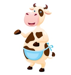 Cow cartoon vector image