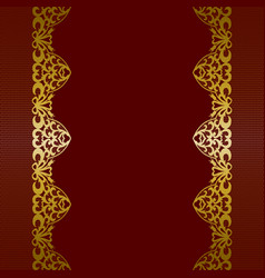 Gold lace borders vector