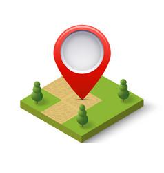 a navigation sign and pin symbol on city urban vector image