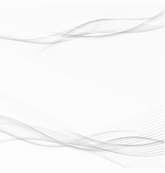 Grey swoosh wave abstract stream line layout vector