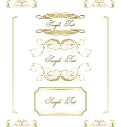 Calligraphic frame border label design elements vector