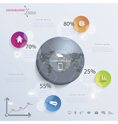 Abstract modern infographic or presentation vector