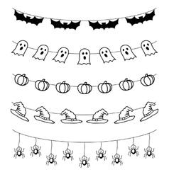 Halloween garland set vector