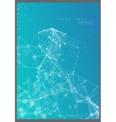 Abstract poster technological network vector