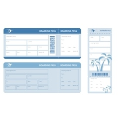 Blue ticket vector