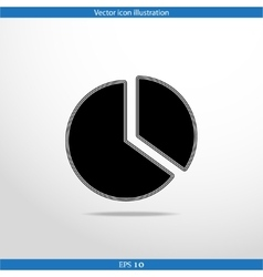 Pie chart web flat icon vector