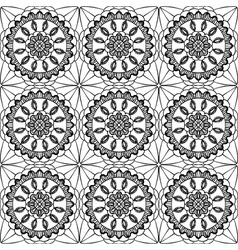 lace of openwork squares vector image