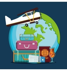 Travel icons design vector