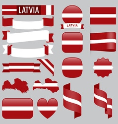 Latvia flags vector image
