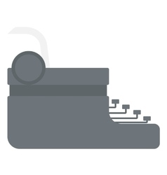 Typewriter with sheet of paper vector image