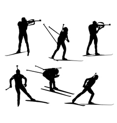Biathlon set vector