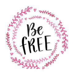 be free handwritten calligraphy phrase brush vector image vector image