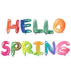 bright springcard template hello spring vector image