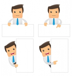 cartoon office workers vector image vector image