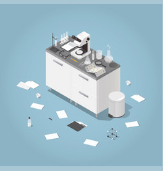 chemical laboratory isometric vector image vector image