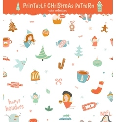 Christmas holidays seamless pattern vector