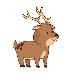 Cute deer wildlife image vector