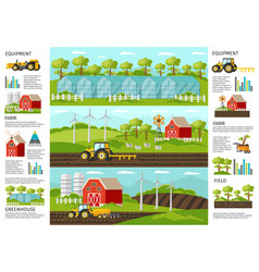 Farming and agriculture infographic banners vector