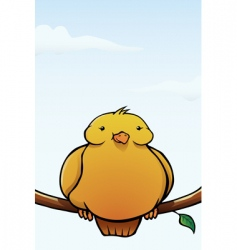 fat bird vector image