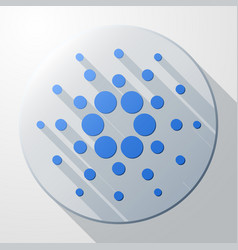 Flat icon of cardano cryptocurrency sign vector