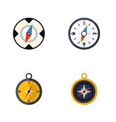 Flat icon orientation set of divider navigation vector