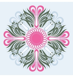 Floral ornate background vector