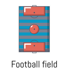 football field icon cartoon style vector image vector image