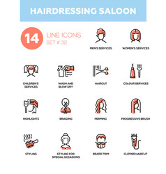 hairdressing saloon - modern single line vector image vector image