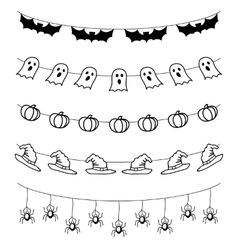 Halloween garland set vector
