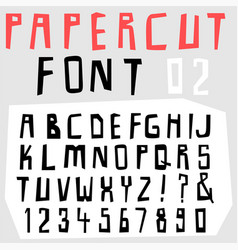 hand drawn doodle font set vector image vector image