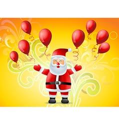 happy santa claus vector image