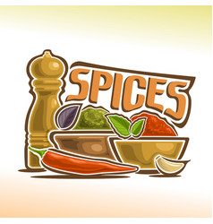 Logo of spices vector