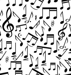 Musical notes - seamless vector image vector image