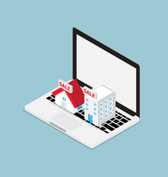Online real estate concept vector