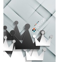paper crown modern design vector image
