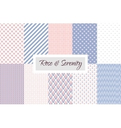 Rose quartz and Violet geometric seamless pattern vector image