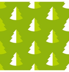 Seamless pattern with fir vector image vector image