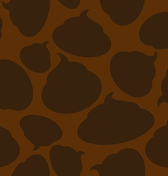 Silhouette turd seamless pattern Brown shit vector image vector image