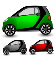 small city car vector image vector image