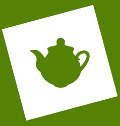 tea maker kitchen sign white icon vector image vector image