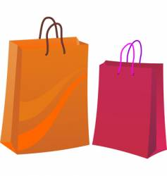two shopping bags vector image vector image