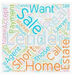 Why would a lender do a short sale text background vector