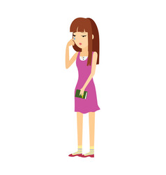 Young woman in depression flat vector